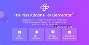 The Plus v5.0.1 – Addon for Elementor Page Builder WordPress Plugin