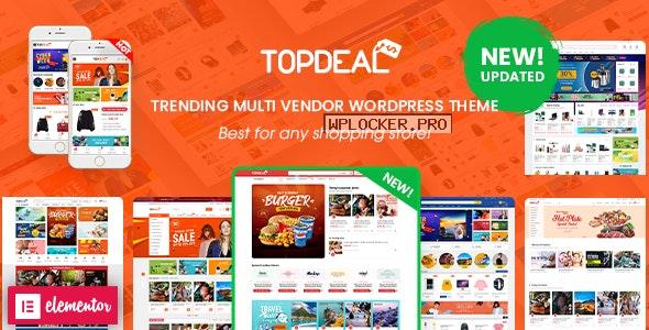TopDeal v2.2.0 – Multi Vendor Marketplace Elementor WooCommerce WordPress Theme NULLED