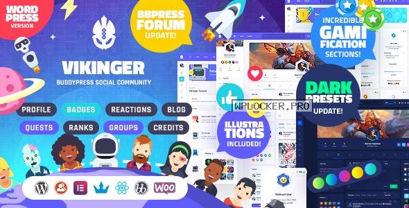Vikinger v1.7.0 – BuddyPress and GamiPress Social Community