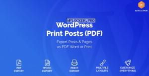 WordPress Print Posts & Pages (PDF) v1.5.6