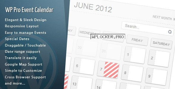 WordPress Pro Event Calendar v3.2.7