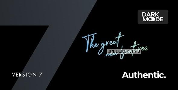 Authentic v7.0.5 – Lifestyle Blog & Magazine Theme NULLED
