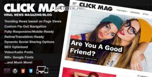 Click Mag v3.4.0 – Viral News Magazine/Blog Theme