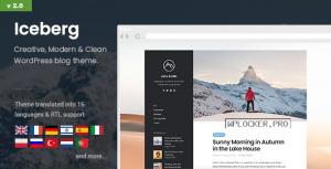 Iceberg v2.0.3 – Simple & Minimal Personal Content-focused