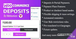 WooCommerce Deposits v3.2.2 – Partial Payments Plugin