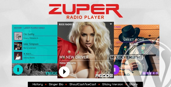 Zuper v3.2 – Shoutcast and Icecast Radio Player With History
