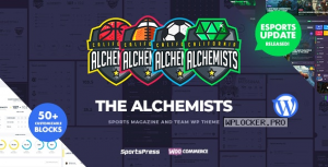 Alchemists v4.4.8 – Sports, eSports & Gaming Club and News WordPress Theme