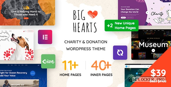 BigHearts v1.1.2 – Charity & Donation WordPress Theme