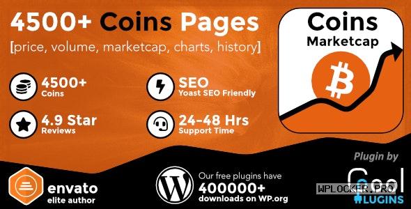 Coins MarketCap v4.5 – WordPress Cryptocurrency Plugin