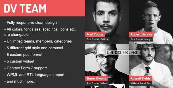 DV Team v2.0 – Responsive Team Showcase WordPress Plugin