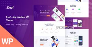 Deef v1.0.0 – App Landing WordPress Theme