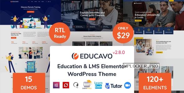 Educavo v2.8.0 – Online Courses & Education WordPress Theme