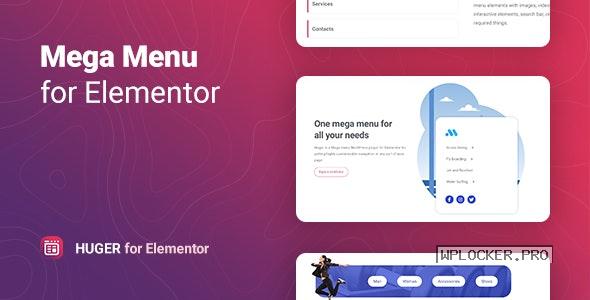 Huger v1.0.2 – Mega Menu for Elementor