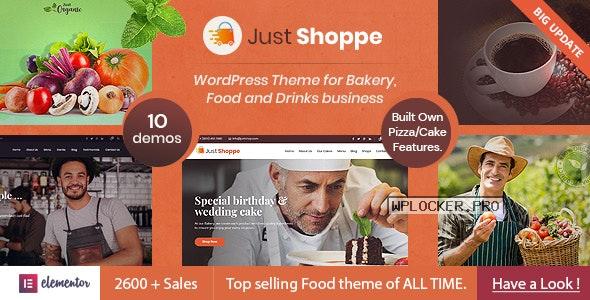 Justshoppe v11.7 – Elementor Cake Bakery WordPress Theme