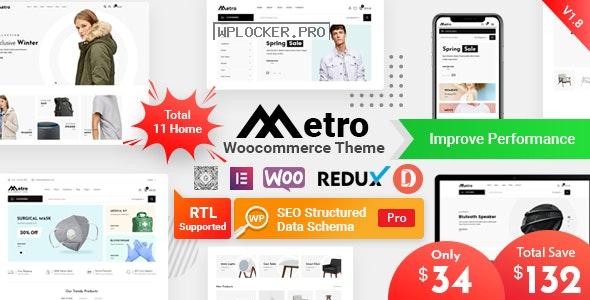 Metro v1.9.2 – Minimal WooCommerce WordPress Theme