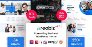 Reobiz v4.7.1 – Consulting Business WordPress Theme