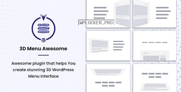 Stunning 3D Off Canvas Menu WordPress Plugin v1.0.4 – 3D Menu Awesome