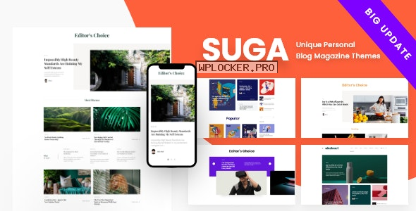 Suga v3.0 – Magazine and Blog WordPress Theme