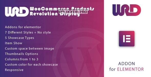 Woocommerce Products Revolution Display for Elementor v1.0.0