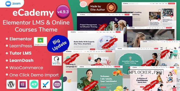 eCademy v4.9.3 – Elementor LMS & Online Courses Theme