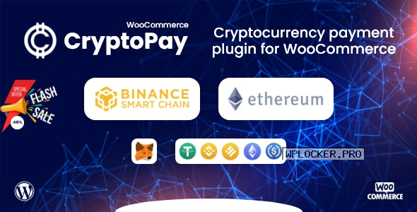 CryptoPay WooCommerce v1.0 – Cryptocurrency payment plugin