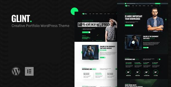 Glint v1.0 – Personal Portfolio WordPress Theme
