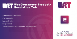 WooCommerce Products Revolution Tab for Elementor v1.0