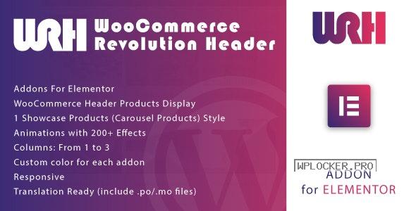 WooCommerce Revolution Header for Elementor WordPress Plugin v1.0