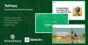 ePress v2.0.0 – Nonprofit Charity WordPress Theme